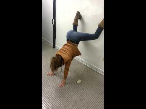 Ruby Twerking in the bathroom.