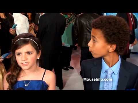 Eva Bella and Tyree Brown  at the FROZEN white carpet World Premiere in Hollywood