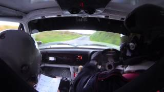 Manx rally.2014 Isle of Man stage 02 . Brian watson/Scott Kerr. Mk 2 escort.  gopro in car cam