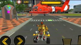 FireFighter ATV Bike: Helicopter Rescue 2018 FHD-Android Games-New Games 2018-Standard Games HD