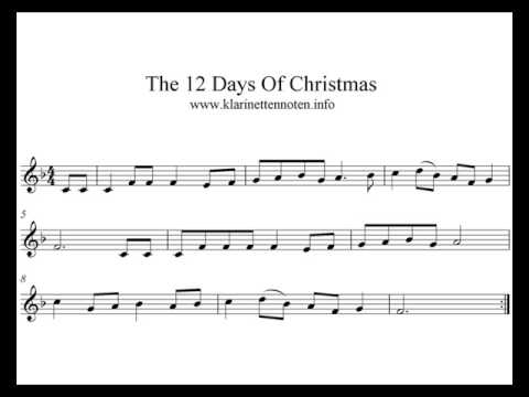 Play Trumpet, Clarinet  The 12 Days Of Christmas
