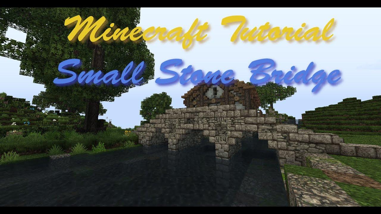 Minecraft Tutorial Small Stone Bridge Youtube