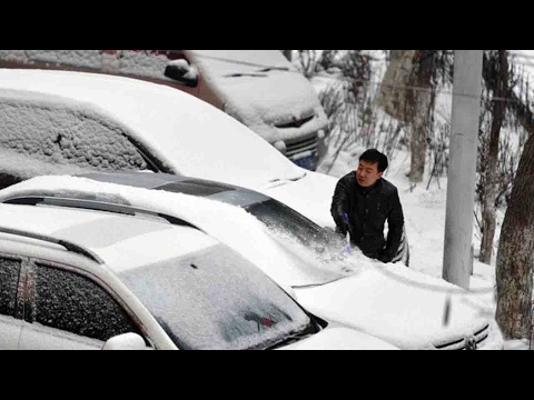 Heavy snowfall hits China's Tibet, Xinjiang autonomous regions
