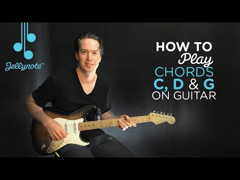 Every Rose by Poison - Playing easy chords (C G D) Beginner Guitar Tutorial (Jellynote Lesson)