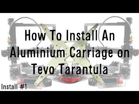 Tevo Tarantula Aluminium Y Carriage Install