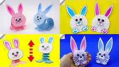 4 DIY paper RABBIT - Easter Craft Ideas   Paper Crafts for Kids