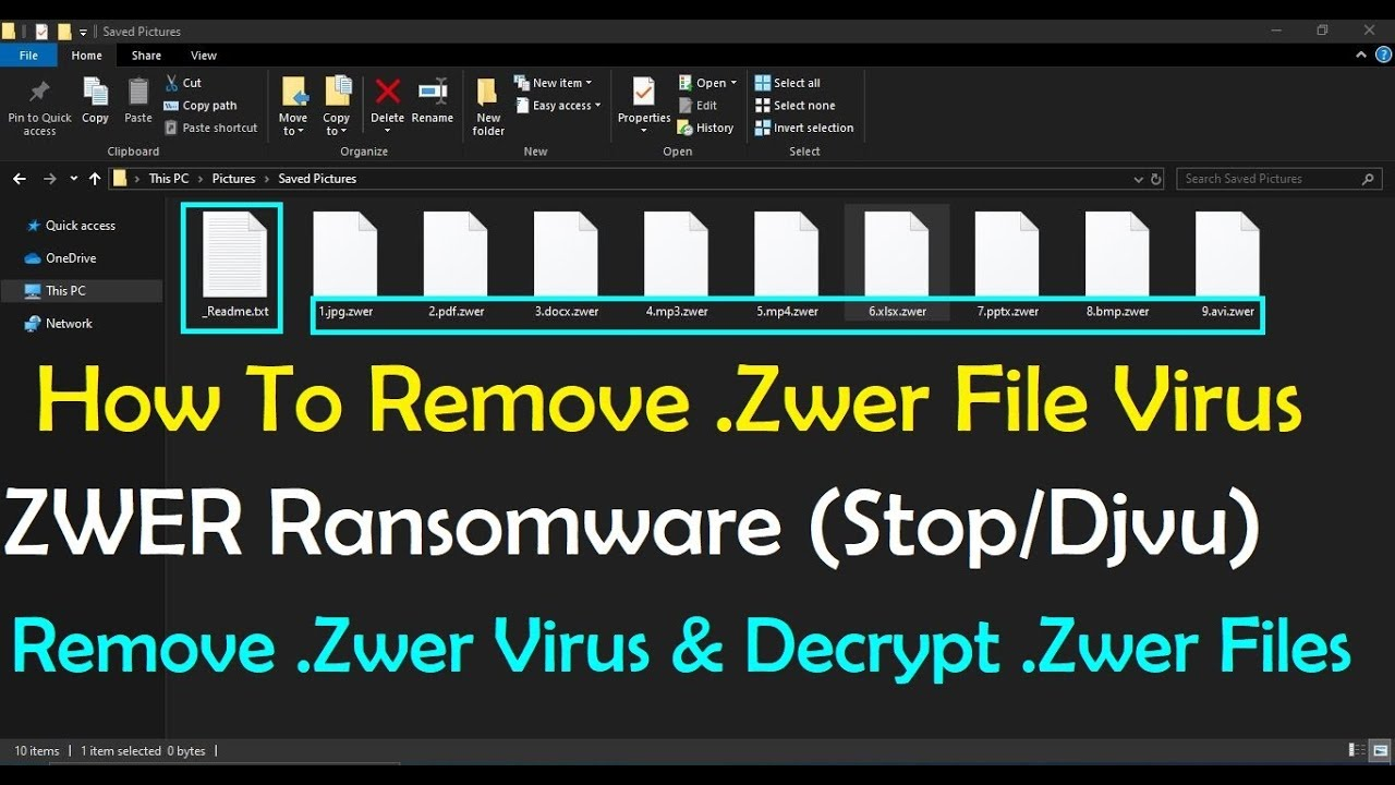 zwer file virus ransomware - Removal Tips + Recover .zwer Files