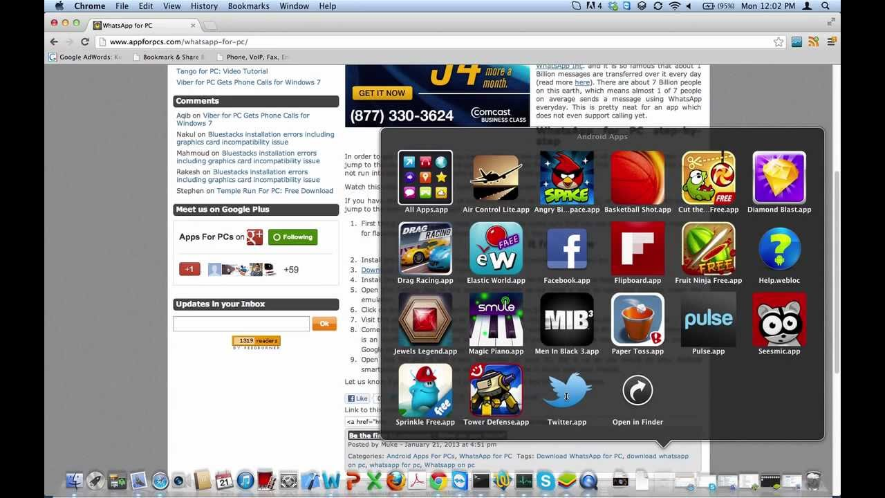 how to install whatsapp on laptop windows vista