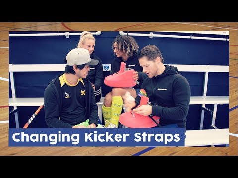 Changing Kicker Straps - Goalkeeper Gear | Hockey Heroes TV