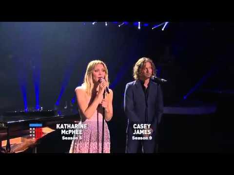 Katharene McPhee & Casey James in American Idol Finale
