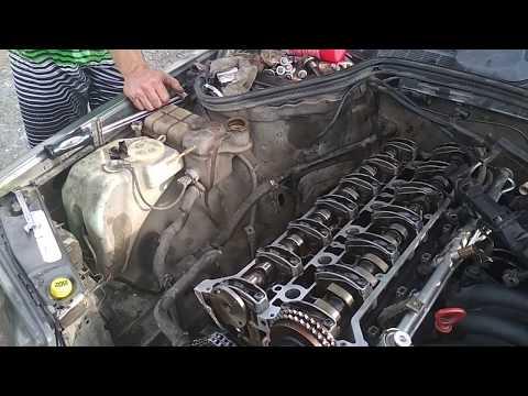 2 порядок затяжки болтов ГБЦ двигателя М104 мерседес
