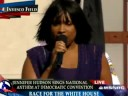 Jennifer Hudson Sings National Anthem at 2008 DNC