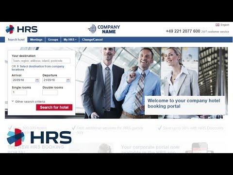 HRS Corporate Booking Portal Guide (English)