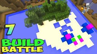 ч.07 Minecraft Build Battle - Остров и Лес (жесть просто)