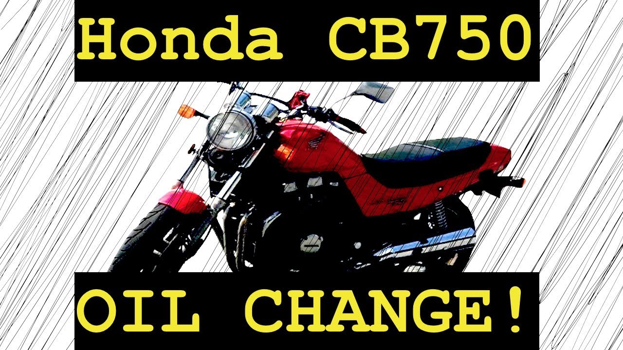 How to do an oil change on a motorcycle 2003 Honda CB750  YouTube