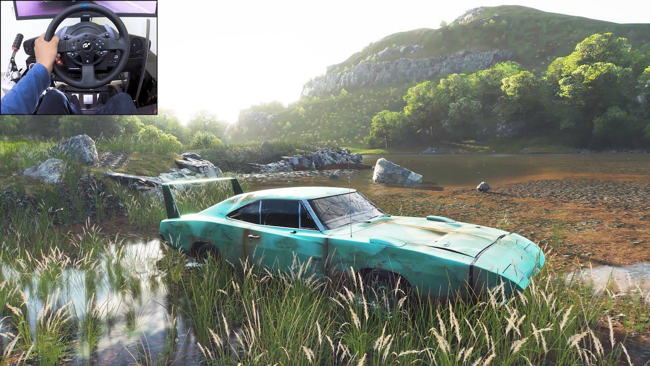 The King (Cars Movie) - Charger Daytona Rebuild - Forza Horizon 4   Thrustmaster T300RS