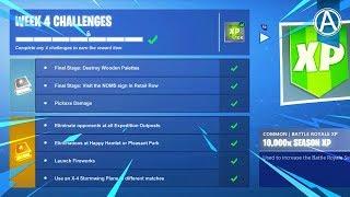 Fortnite SEASON 7 WEEK 4 CHALLENGES GUIDE! Fortnite Battle Royale)
