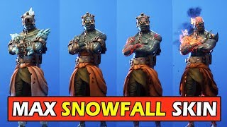 *MAX* ALL 4 STAGES SNOWFALL SKIN (THE PRISONER) FORTNITE SKIN SHOWCASE