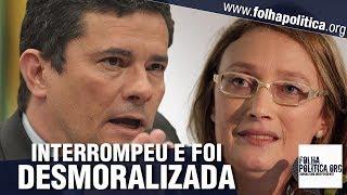 Maria do Rosário interrompe Sergio Moro, tenta se destacar e acaba desmoralizada