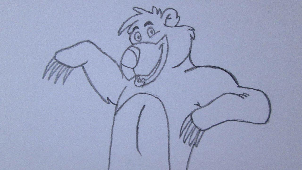 Cómo Dibujar A Baloo (oso) De El Libro De La Selva