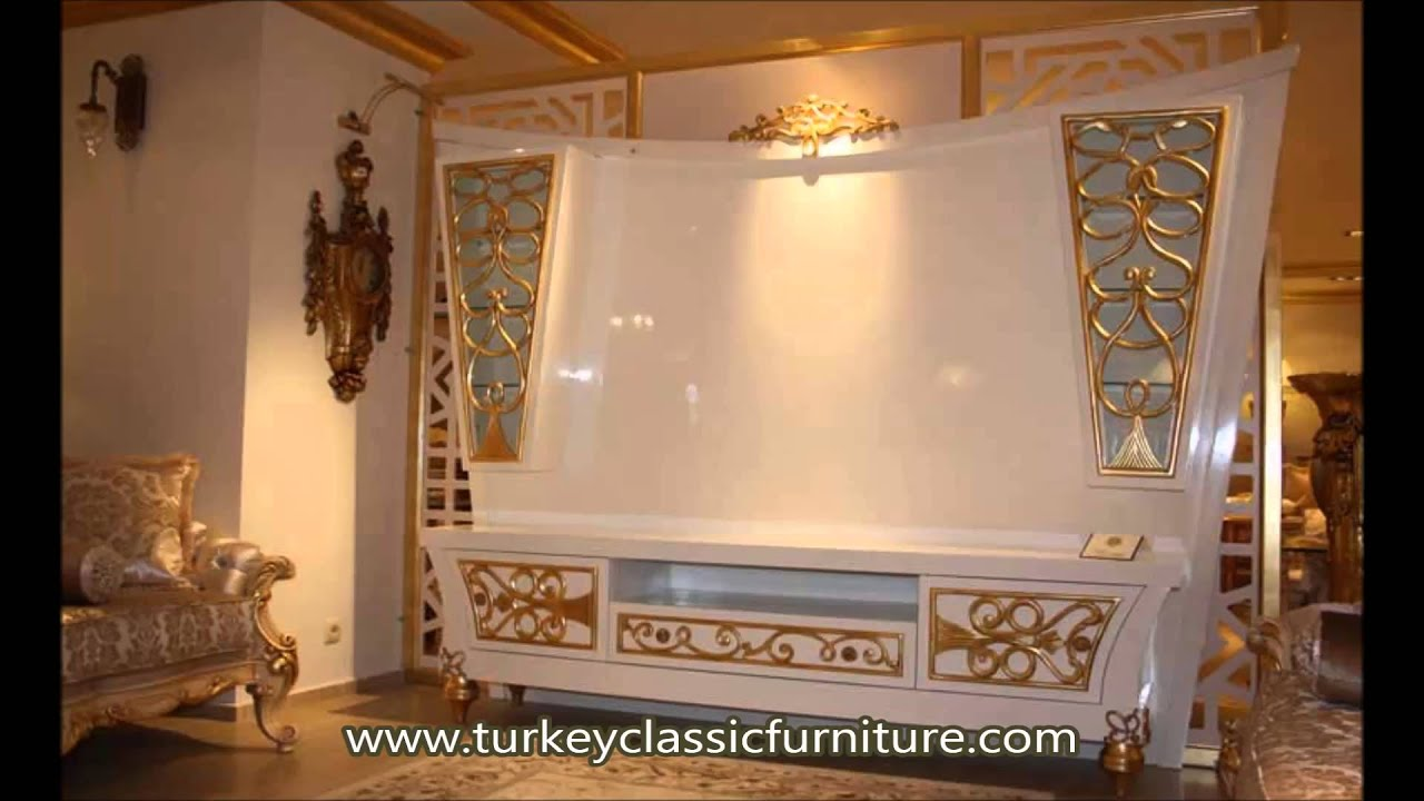 Classic Luxury TV Wall Units and Media Cabinets - YouTube