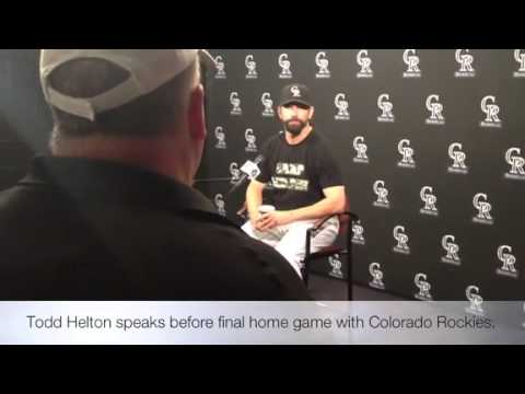 Todd Helton on his final game