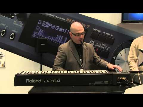 Keyboard Magazine demos the new Roland RD 64 at NAMM 2013