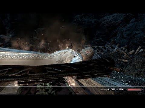 Skyrim mod VIGILANT v. 1.22 All Boss fights with mid level hero