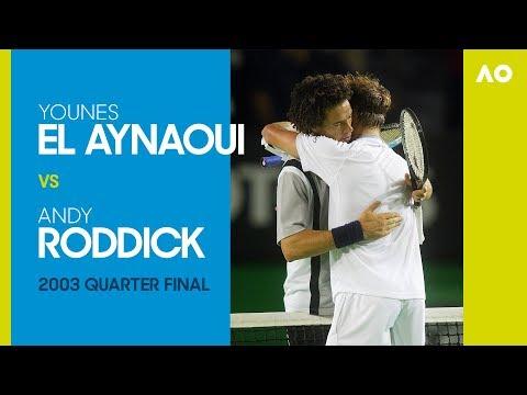 AO Classics: Younes El Aynaoui v Andy Roddick (2003 QF)