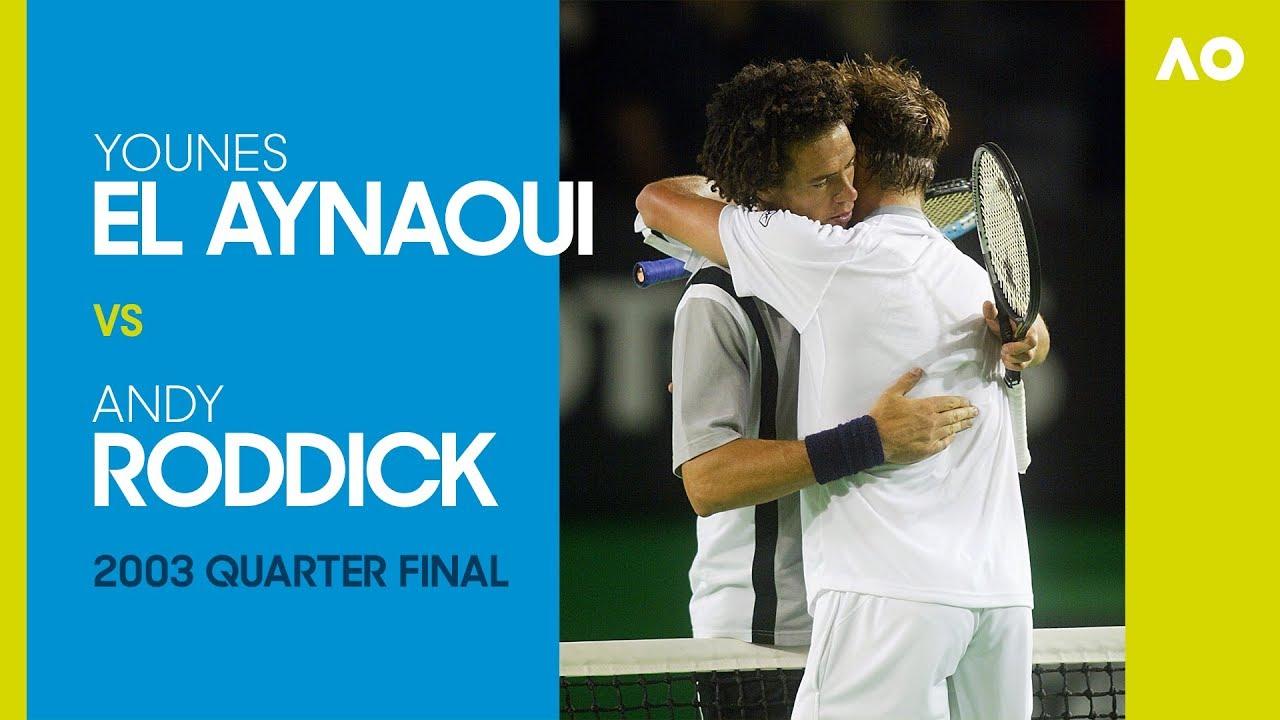 Younes El Aynaoui v Andy Roddick - Australian Open 2003 Quarter Final | AO  Classics - YouTube