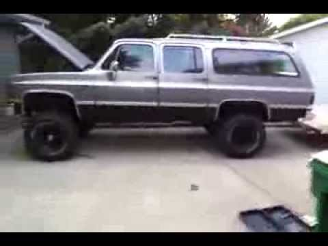 1986 chevy suburban 6quot lift and 35quot tiresalmost done