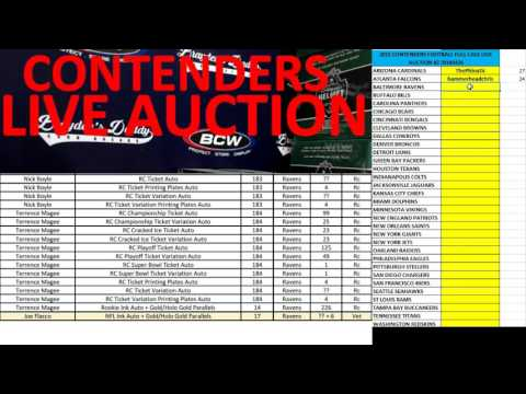2015 CONTENDERS FOOTBALL FULL CASE LIVE AUCTION #2 APRIL 26, 2016