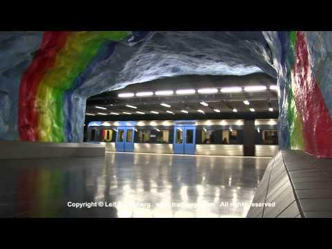 SL Tunnelbana / Metro at Stadion station, Stockholm