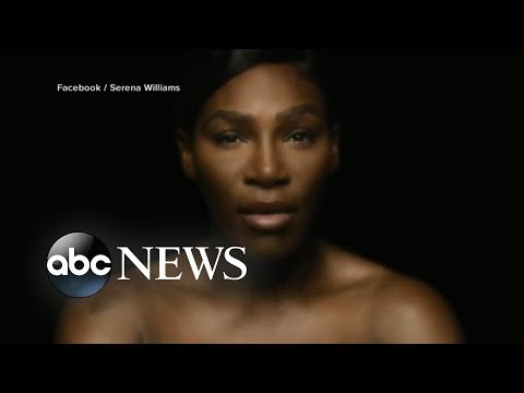 Serena Williams sings topless for Breast Cancer Awareness Month