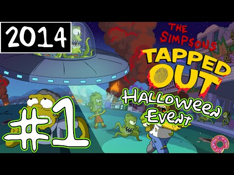 KC Plays!  The Simpsons: Tapped Out  Halloween Event  Part 1 2014