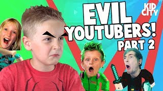 Fuja do EVIL YouTubers 2 Roblox Obby! SIS vs bro, DanTDM & mais!