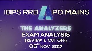 Analyzer - Exam Analysis Of IBPS RRB PO MAINS 2017 (Review & Cut Off) 5th November 2017 2017 Video