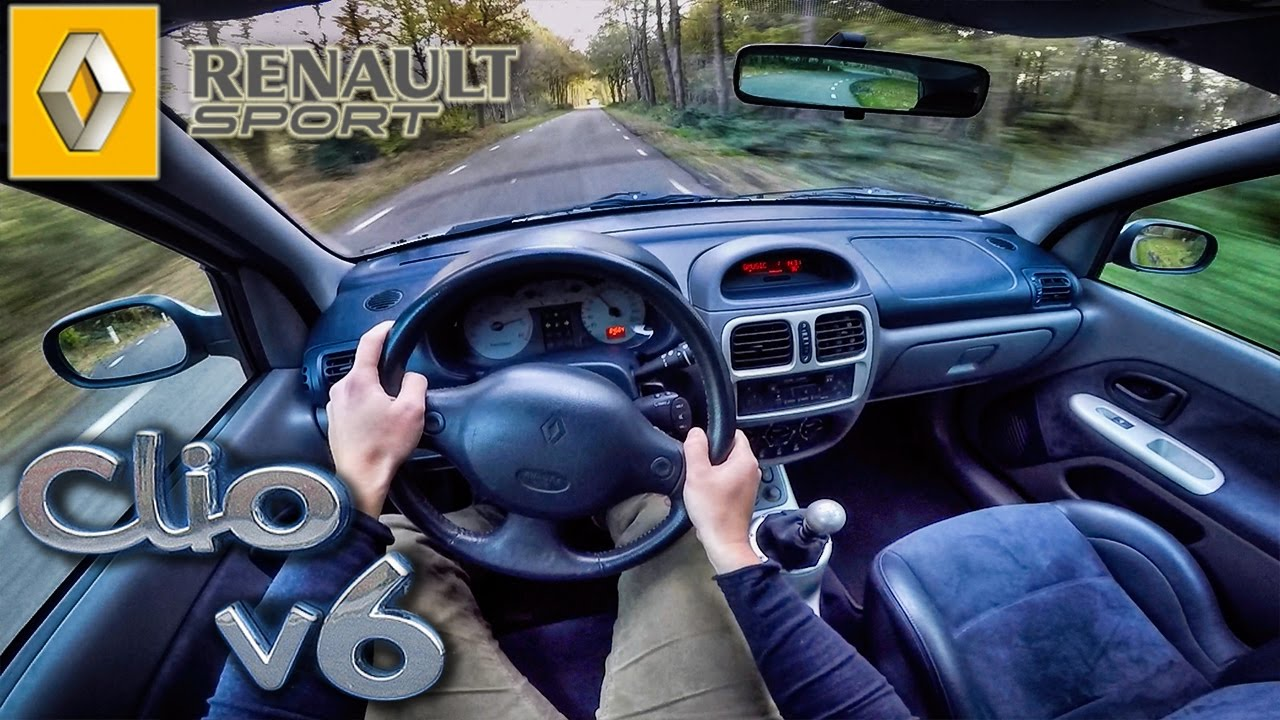 renault sport clio v6 3 0 phase 1 pov test drive youtube. Black Bedroom Furniture Sets. Home Design Ideas