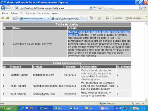 Videotutorial 10 ASP y SQL Server