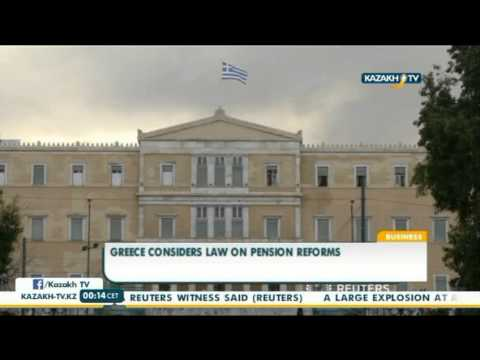 Greece considers law on pension reforms - Kazakh TV