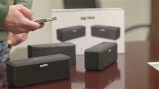SHARKK® Bluetooth Boombox Buddy System - How to set up your speakers and play music using Bluetooth