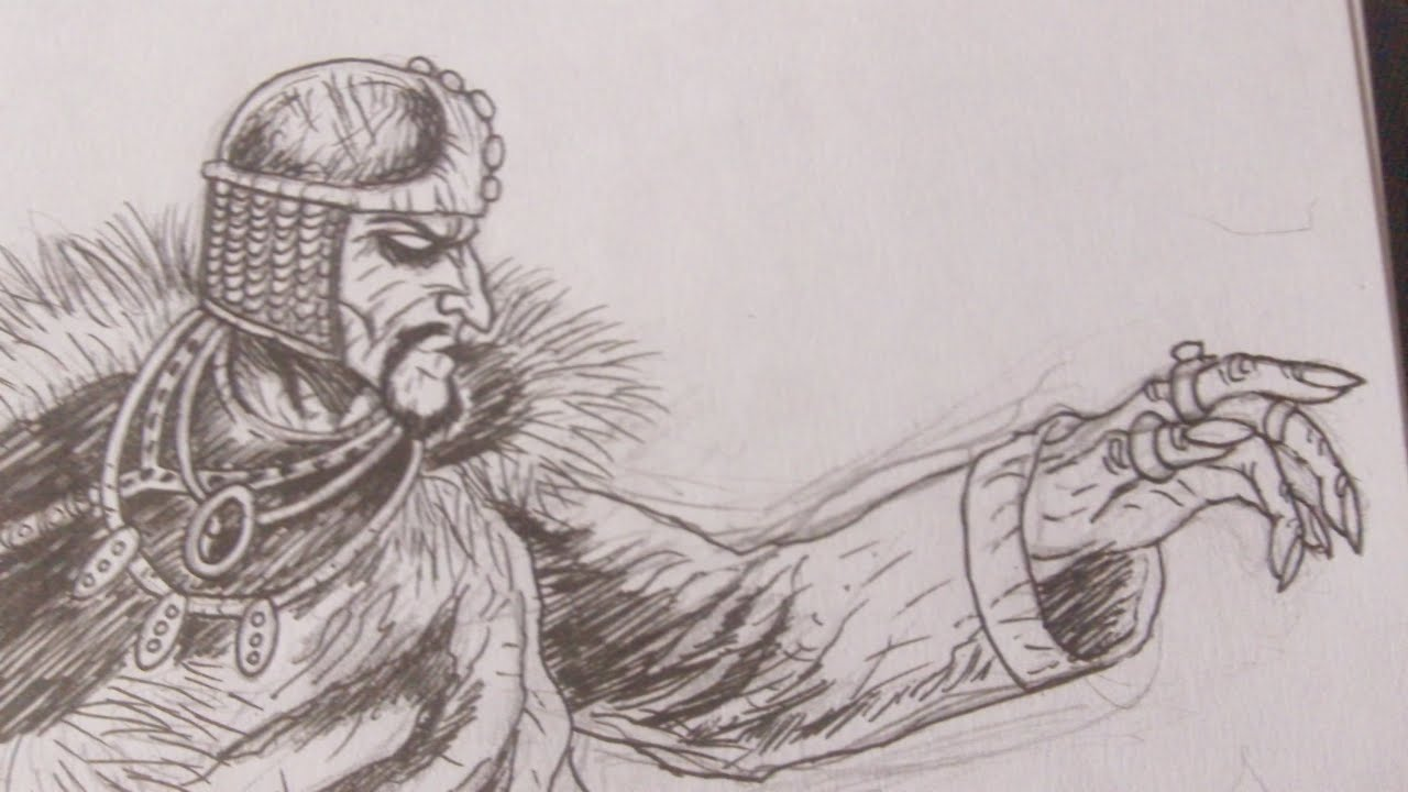 Evil Wizard Art Sketch