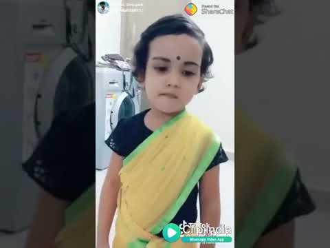 A small girl dubsmash -en karutha pulla sollu machan. (Charlie Chaplin 2)