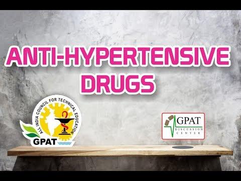 ANTI-HYPERTENSIVE DRUGS | PHARMACOLOGY | GPAT-2020 | PHARMACIST | DRUG INSPECTOR
