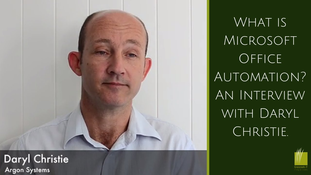 advantages of office automation. what is microsoft office automation an interview with daryl christie youtube advantages of