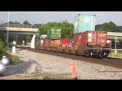 Norfork Southern Intermodal Train Eastbound In(HD) Austell,Ga.5-27-2013