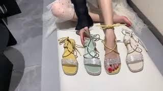 샌들 여성 선녀 패션 코디 플랫 큐빅 여름 밴드 통굽 …