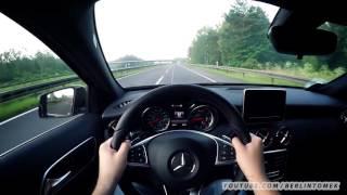 vw golf 7 r vs mercedes a45 amg acceleration 0 250 onboard sound autobahn test