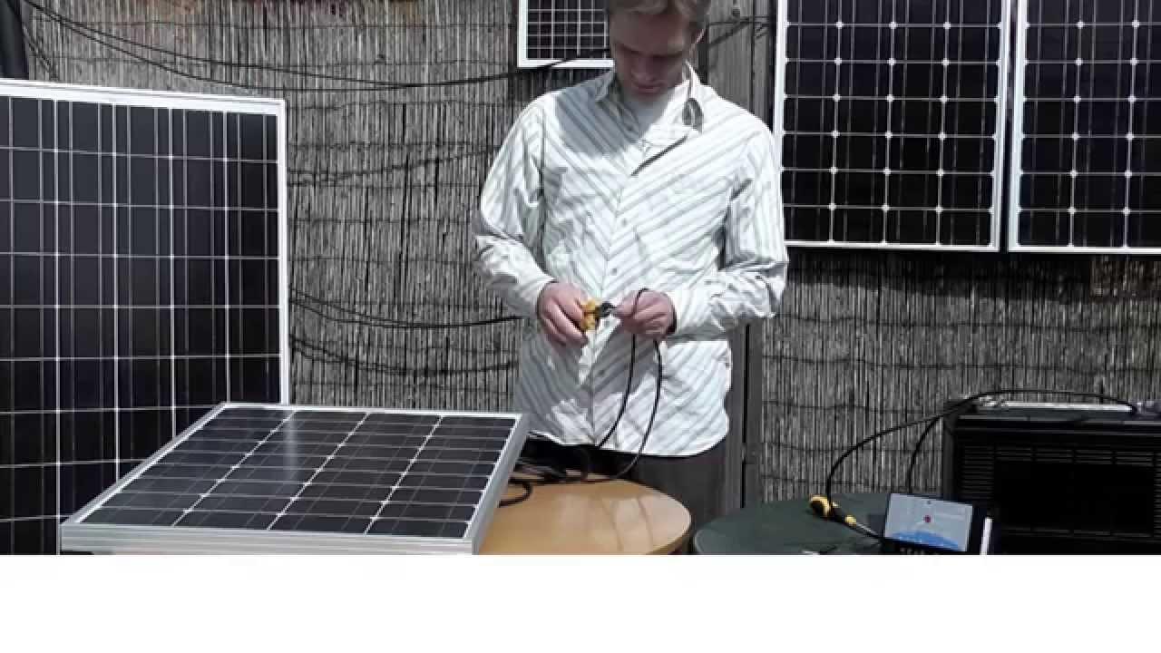 C mo conectar un panel solar akt a una bater a a trav s de - Como solar un suelo ...