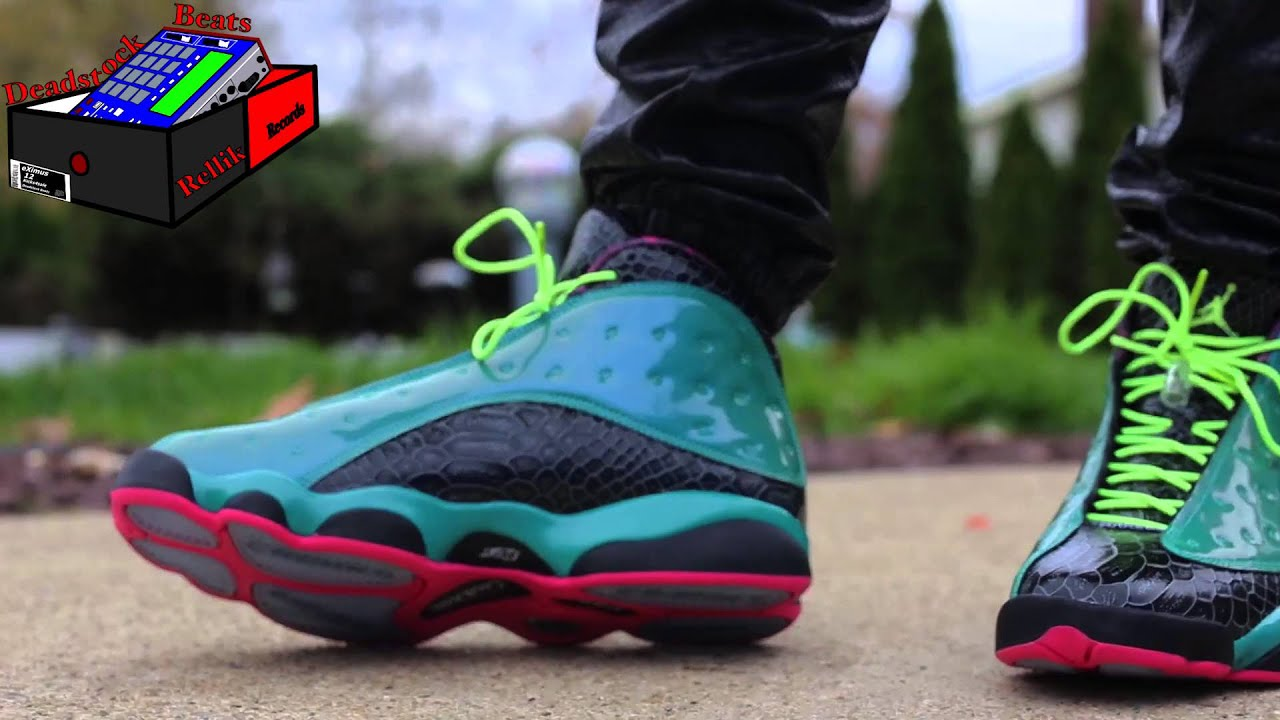 Jordan XIII 13 Doernbecher On Feet - YouTube